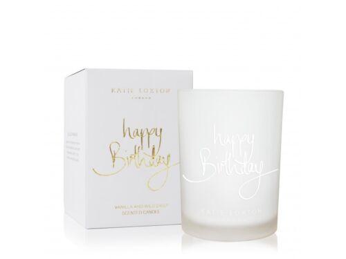 265g Katie Loxton Sentiment Candle HAPPY BIRTHDAY Vanilla and Wild Daisy