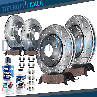 Brake 2002 Cadillac Deville w//Std OE Replacement Rotors Ceramic Pads F