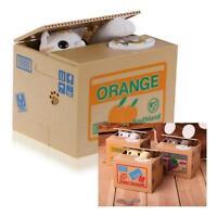 Mechanical Coin Stealing Cat Bank Itazura Choose Color Kitty Us Seller Kids Gift