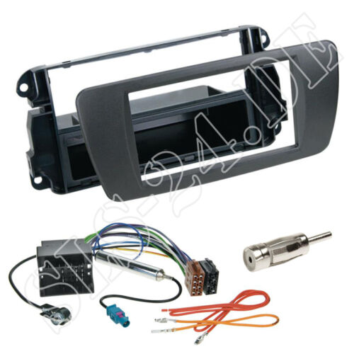 Einbaurahmen Adapter ISO Kabel Einbauset Seat Ibiza Radioblende nitschwarz AN1