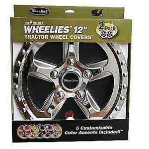 2 New Wheelies Lawn Garden Tractor Wheel Covers Hub Caps