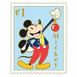Image Is Loading Disney Christmas Postage Stamp Mickey Mouse Pin