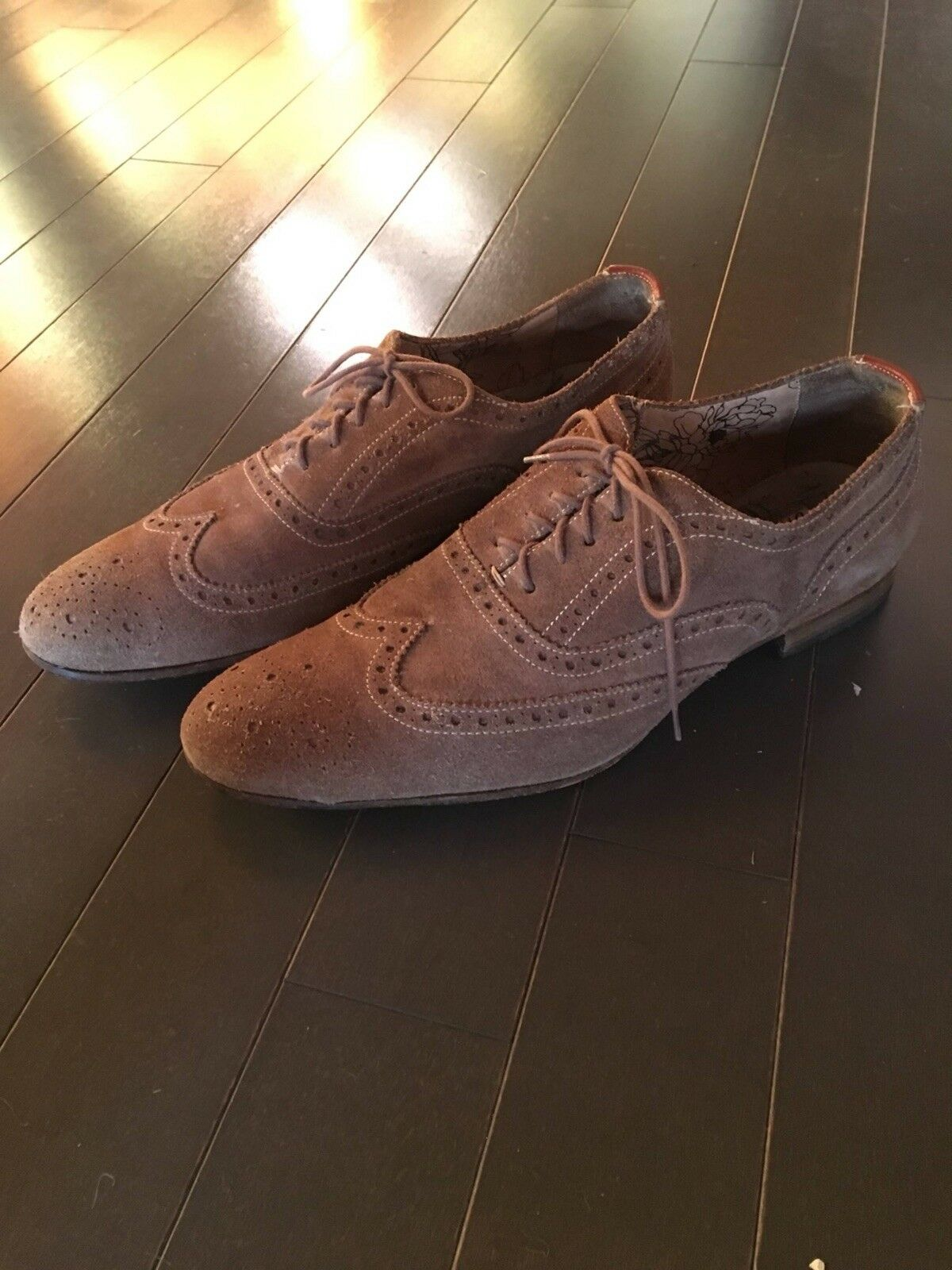 Paul Smith Miller Taupe Beige Tan Wingtip Brogue shoes - US 9