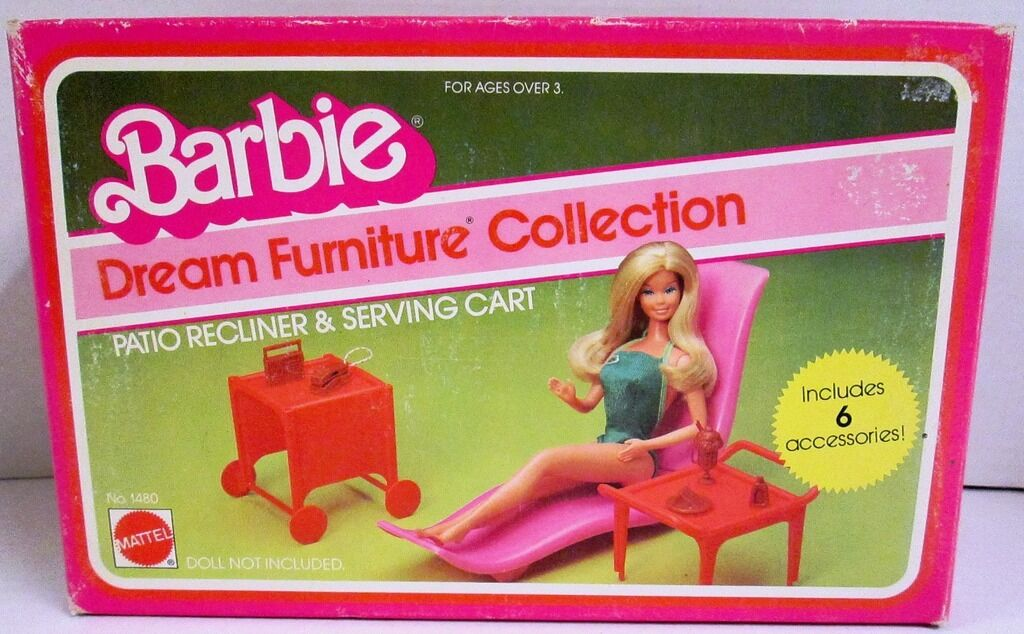 Patio Reclinable & Servir Carrito (colección de muebles de Ensueño de Barbie) (Nuevo)