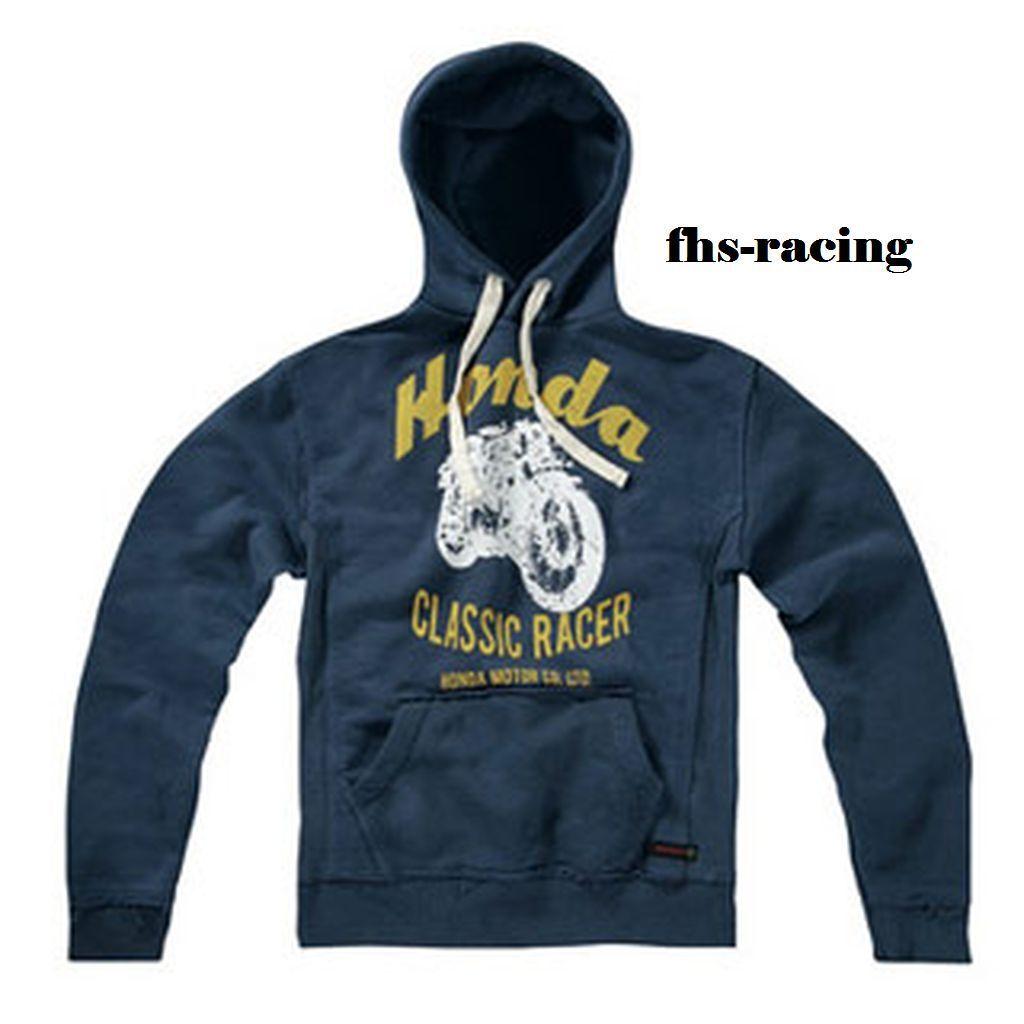 Original HONDA Classic Racer , Hoody , Pullover Pullover Pullover , Kapuzenshirt Gr. L  dunkelblau 12bf8e