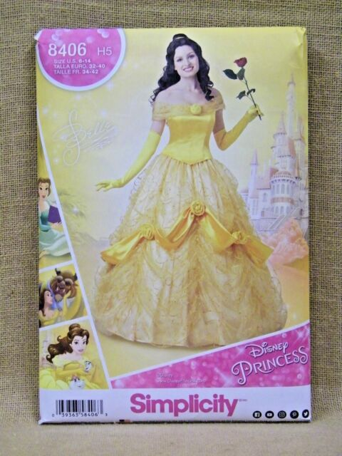 Simplicity Sewing Pattern 40 H40 Adult Disney Princess Belle Awesome Disney Sewing Patterns