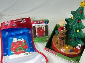 image is loading peanuts animated table ornament charlie brown snoopy christmas - Snoopy Christmas Tree