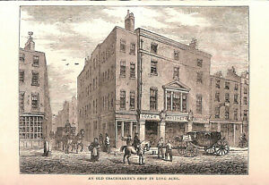 Long-Acre-Covent-Garden-1879-Coachmaker-039-s-shop-Old-and-New-London-Historical-Art