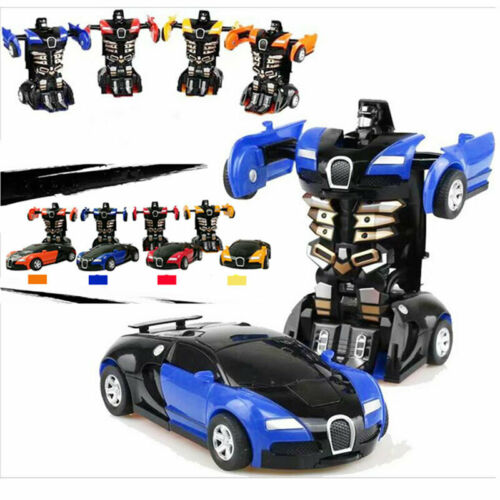 Toys Robot Car Transformers For Kids Toys Cool Blue Cars Toy Xmas Gift Present