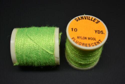 #504 Fluorescent Green Danville/'S NYLON laine filetage 10 Yd environ 9.14 m fly tying