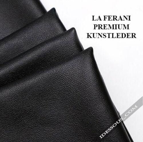 Matt Leder Optik Leggings High Waist Hoher Bund Thermo XS S M L 34 36 38 40 42