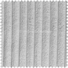 Soft Chunky Super Jumbo Corduroy Upholstery Cushions Sofas Fabric Material Cream