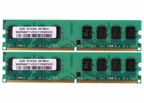 4 GB 2X 2GB DDR2 PC2-5300U 667MHz 2RX8 240PIN DIMM RAM Desktop memory intel #3h