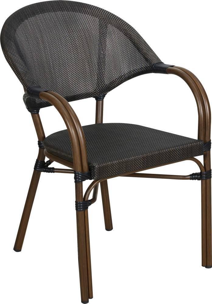 TrendLine Stuhl Valencia Bambusoptik Gartenstuhl witterungsBesteändig stapelbar stapelbar stapelbar 0f6f5e