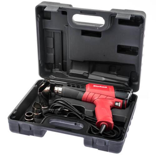 Einhell Heißluftpistole Heißluftfön Heißluftgebläse Heißluftföhn Heat Gun Koffer