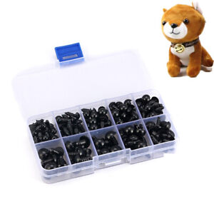 100pcs//bag Plastic Teddy Bear Safety Noses Doll Toys Animal Puppet Crafts DIY