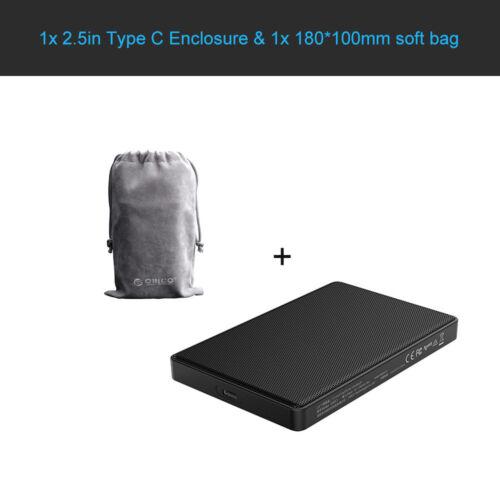 ORICO 4TB 2.5inch Type C USB3.1 SATA Hard Drive Enclosure fit for HDD SSD 2TB