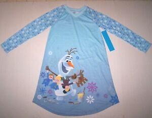 0ad50183e Nwt New Disney Frozen Olaf Snowman Nightgown Pajamas Sleepwear ...