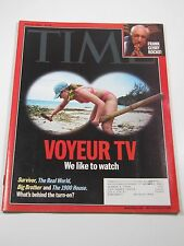 Time Magazine- Voyeur Tv We Like to Watch: Survivor, Big Brother- June 26, 2000