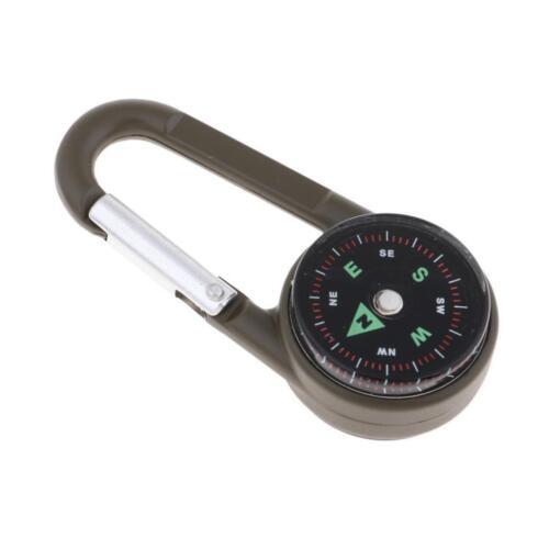3 In 1 Multifunktion Camping Karabinerhaken Kompass Thermometer