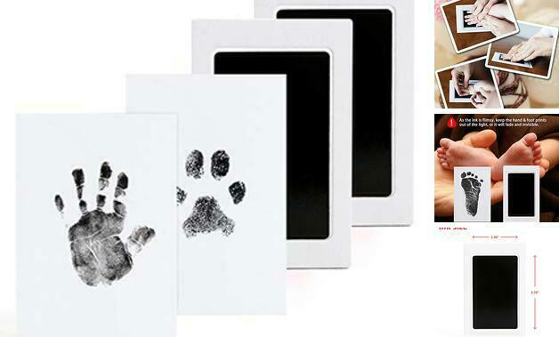 for Family Keepsake Baby Shower Gift for Infant Shower Gift 2 Pcs Baby Handprint and Footprint Ink Pads Print Ink Kits