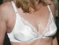 White Bra Size 34B By Frillys Lace Edged Soft Cups Finished off with Centre Bow