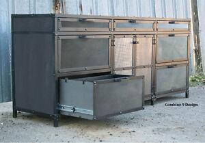 Ordinaire Image Is Loading Vintage Industrial Mid Century Modern File Cabinet Custom