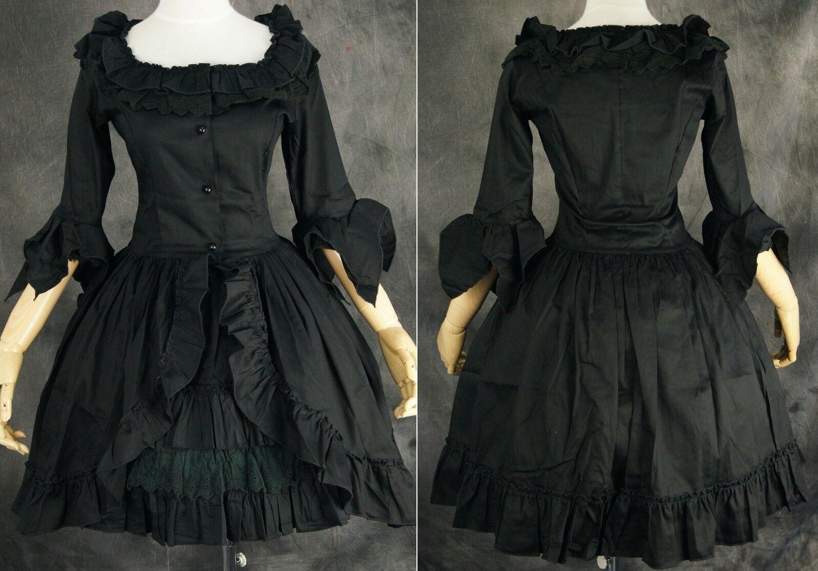M-522 Size M Black Cosplay Gothic Lolita Dress Women's Costume Dress Anime