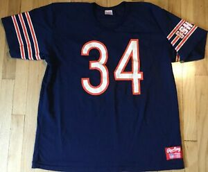 best service ae028 851b3 Details about Vintage 80s WALTER PAYTON jersey XL Rawlings #34 Chicago  Bears football NFL
