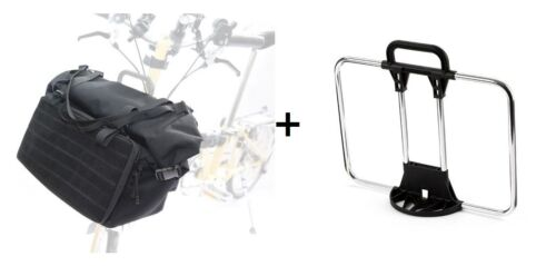 Bicycle Bag Brompton Touring Bag Front + Frame Carrier Block T Bag FAST SHIPPING