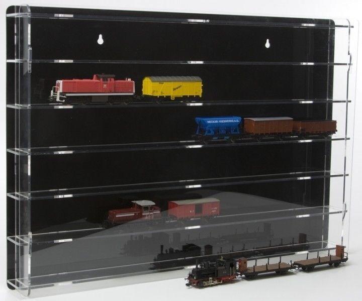 la mejor selección de Sora modelo modelo modelo ferroviario vitrina pista h0 con negro panel posterior  bienvenido a comprar