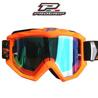 ProGrip Fluro Orange Blue Motorbike MX BMX Goggles suit Husaberg 3204FO