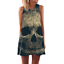Women-Summer-Skull-Flamingo-Sleeveless-Short-Mini-Dress-Ladies-Long-Tops-T-Shirt