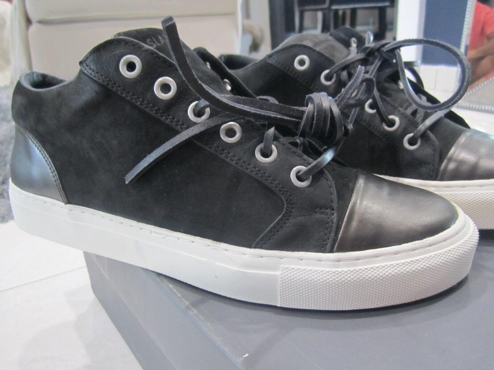 Pizarra & Stone para hombre Lisbon Low Top zapatillas Talla US8 Negro blancoo Hip Hop Jeezy