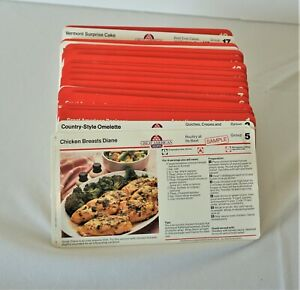 250-Great-American-Recipes-Cards-1-18-Dividers-1980-039-s-Plus-Extras-No-Box-Vntg