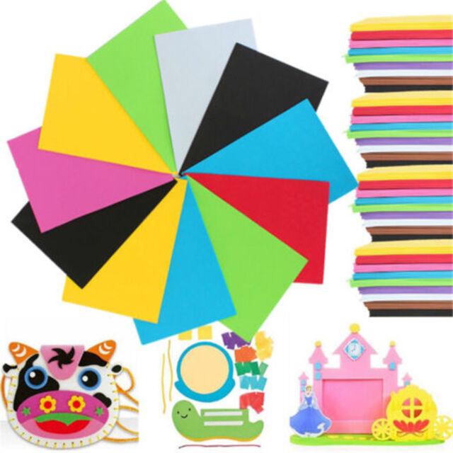 10 Sheets Multicolor Sponge Eva Foam Paper Kids Handmade Diy Hand