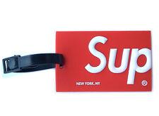 SUPREME Luggage Tag SUP Logo Suitcase Bag Travel Fashion Red - US Seller