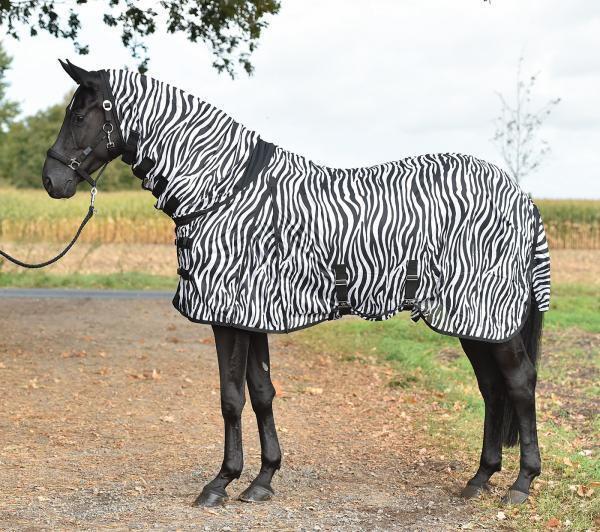 Koppelfliegendecke,Paddockfliegendecke Zebra Comfort con Gola,Gut + Conveniente