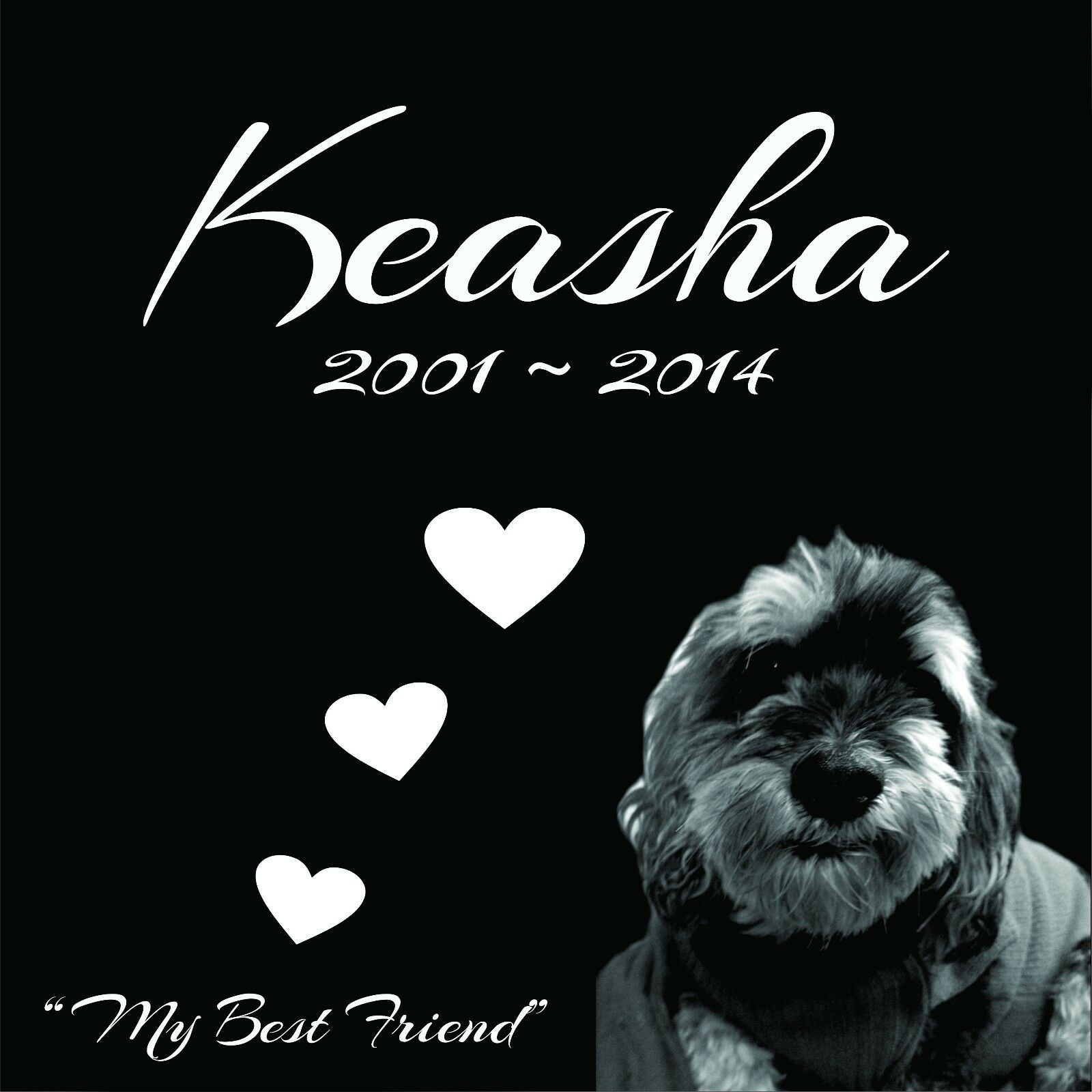 Personalized Pet Stone Memorial Grave Engraved Marker 12 x 12 Yorkie Husky