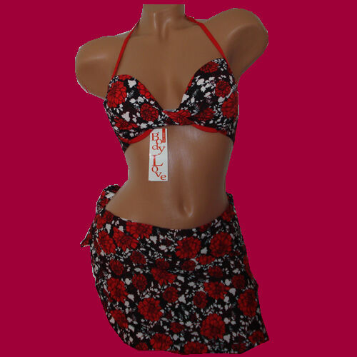 Nuovo 6028 PUSH-UP Bikini con benda Rock 3 Pezzi