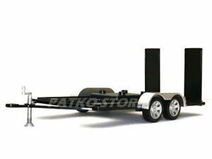 TRAILER / Autoanhänger - black / silver - MotorMax 1:18