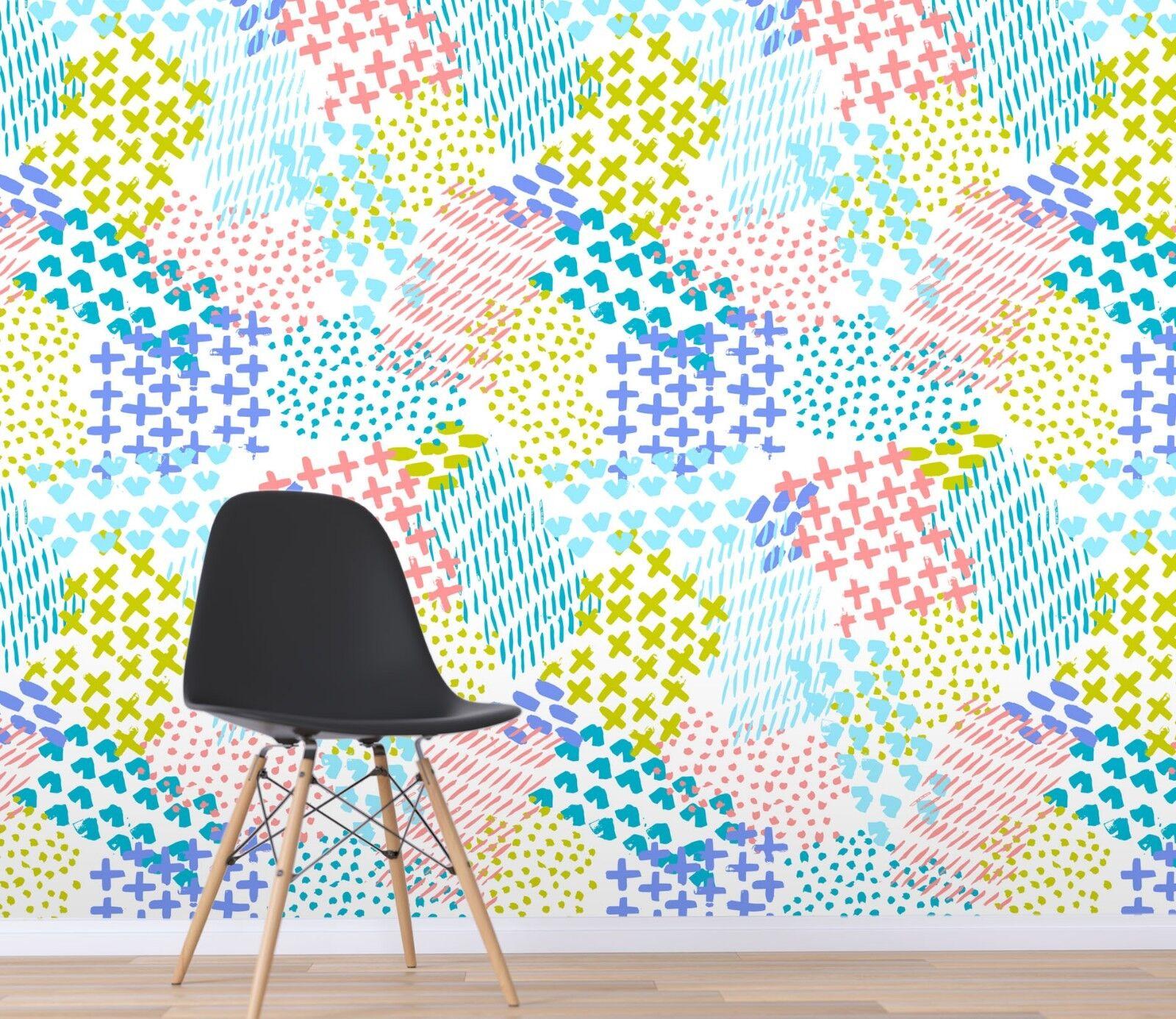 3D Farbe Graffiti 3 Wallpaper Mural Print Wall Indoor Wallpaper Murals UK Summer
