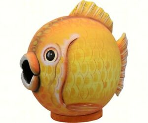 Songbird Essentials Hand-Painted Cute Goldfish Gord-o BirdHouse SE3880079