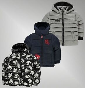 Image is loading Boys-Branded-Character-Lightweight-Full-Zip-Hooded-Pockets- 6094a486bf5a