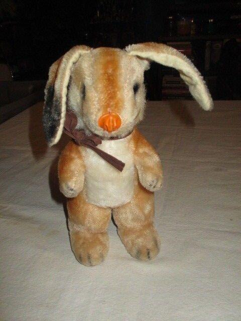 Bunny Rabbit Standing Mohair Plush  9  tall head to feet