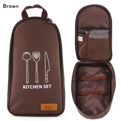 Camping Utensil Outdoor Cooking Accessories Set Travel Cookware in Bag