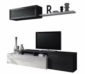 Parete attrezzata mobile tv sala da pranzo dal grigio for Mobile basso sala da pranzo