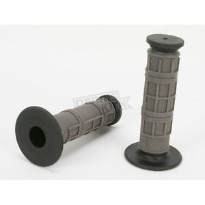 Driven Racing Gray Half Waffle MX Grips - D606GY