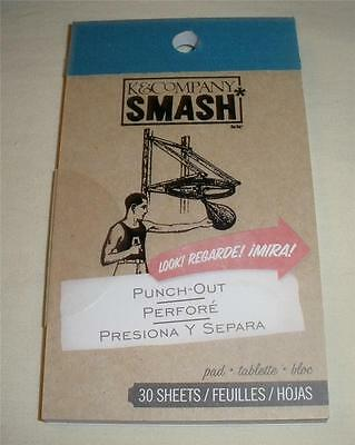 SMASH BOOK ACCESSORY - PAD - PUNCH-OUT - Journaling, Scrapbooking - 30 Sheets