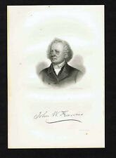 John Wakefield Francis (1789-1861) Physician -Writer -1855 Steel Engraved Print